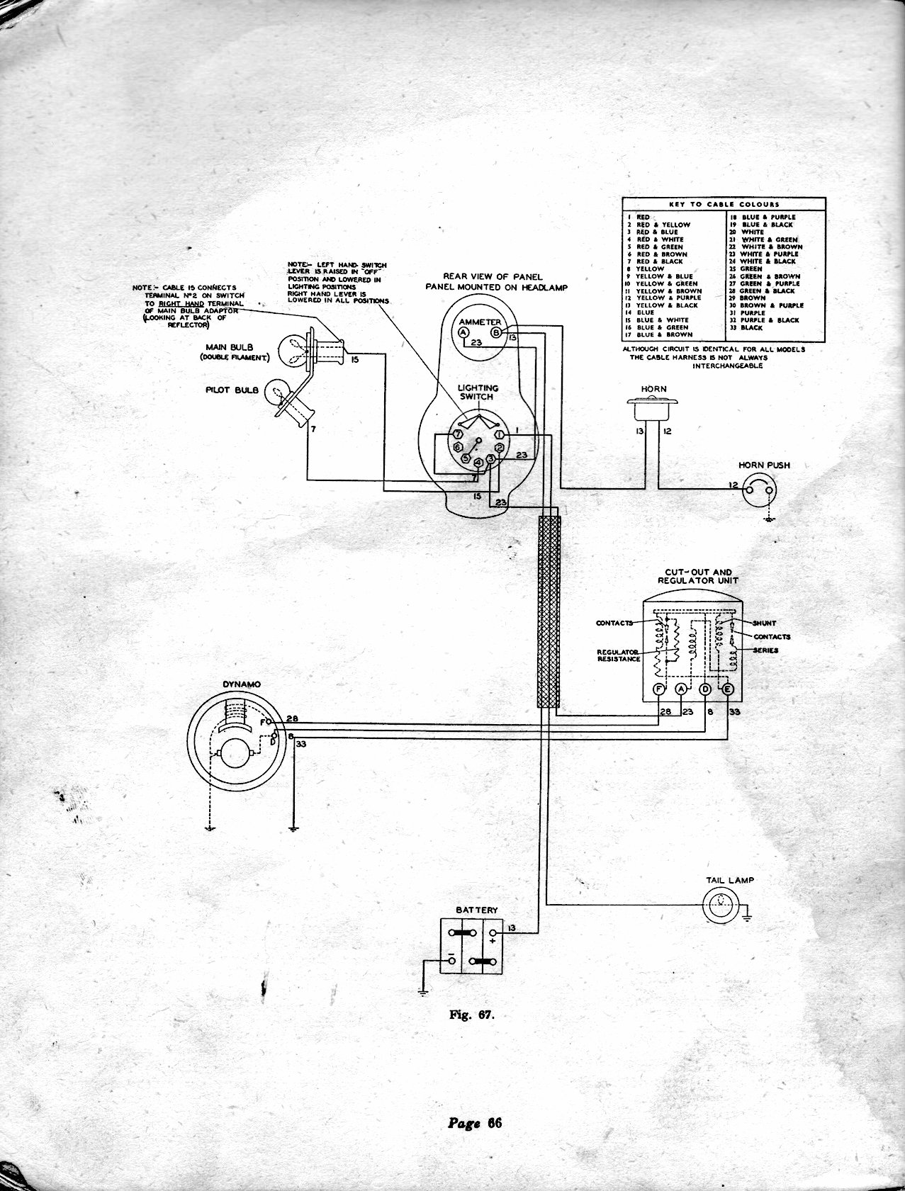 1941 to 1944 electrical system bsa m20 wiring diagram at gsmx.co